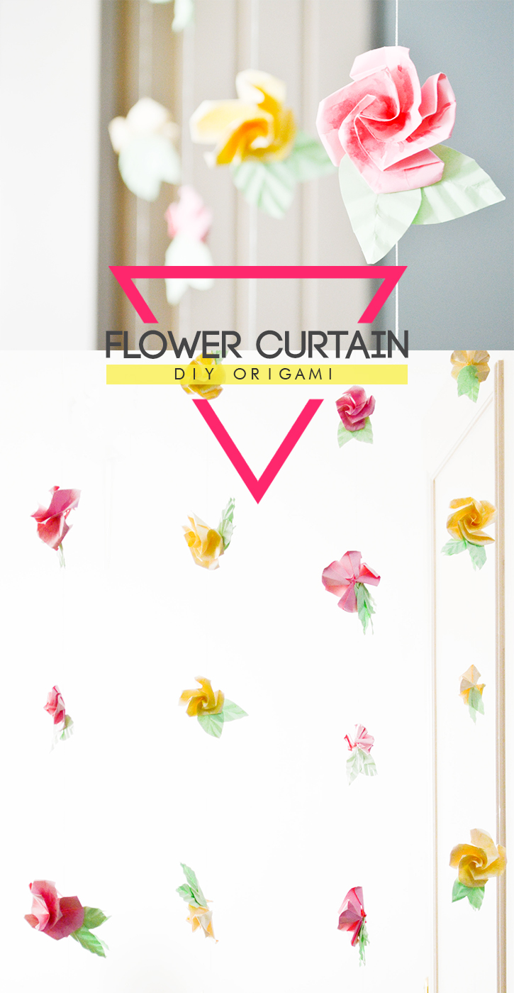 DIY Origami Flower Curtain: for a whimsical spin to your decor @ Craft A Doodle Doo #diy #tutorial #decor #ideas