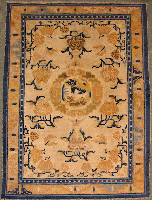 Chinese qianlong foo lion rug
