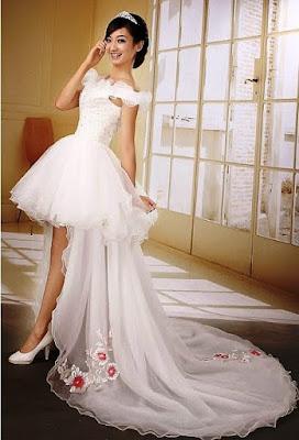 Model Gaun Pengantin Tanpa Lengan 2015