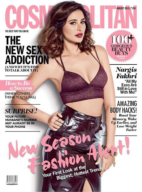 Nargis Fakhri Cosmopolitan India August 2015
