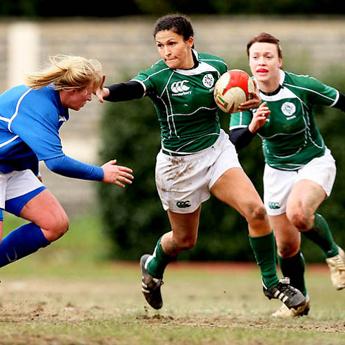 Green Rugby Player: Good Luck To The Girls In Green!