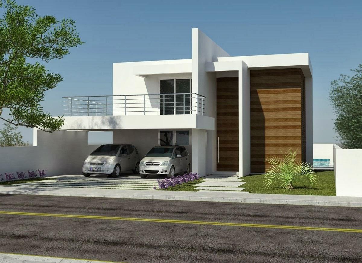 Fachadas de casas de sobrados veja 50 modelos lindos for Casas imagenes fachadas