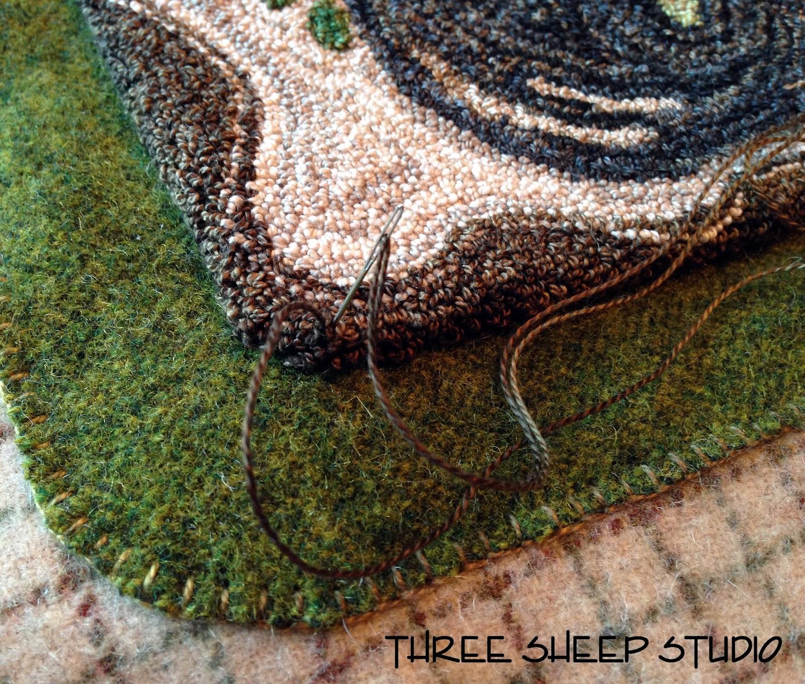 Three Sheep Studio A Punchneedle Pillow Finish