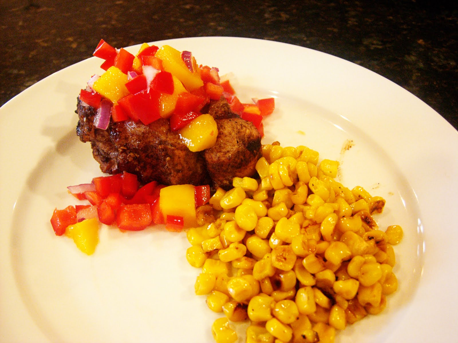 Mango Jerk Pork Chops and Jamaican Corn | Bare Wooden Spoon