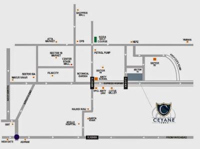 Ceyane Tower :: Location Map