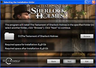 วิธีลงเกมส์ The Testament of Sherlock Holmes