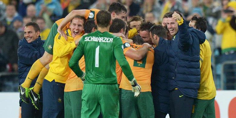 Australia menjadi negara kedua yang lolos ke putaran final Piala Dunia ...