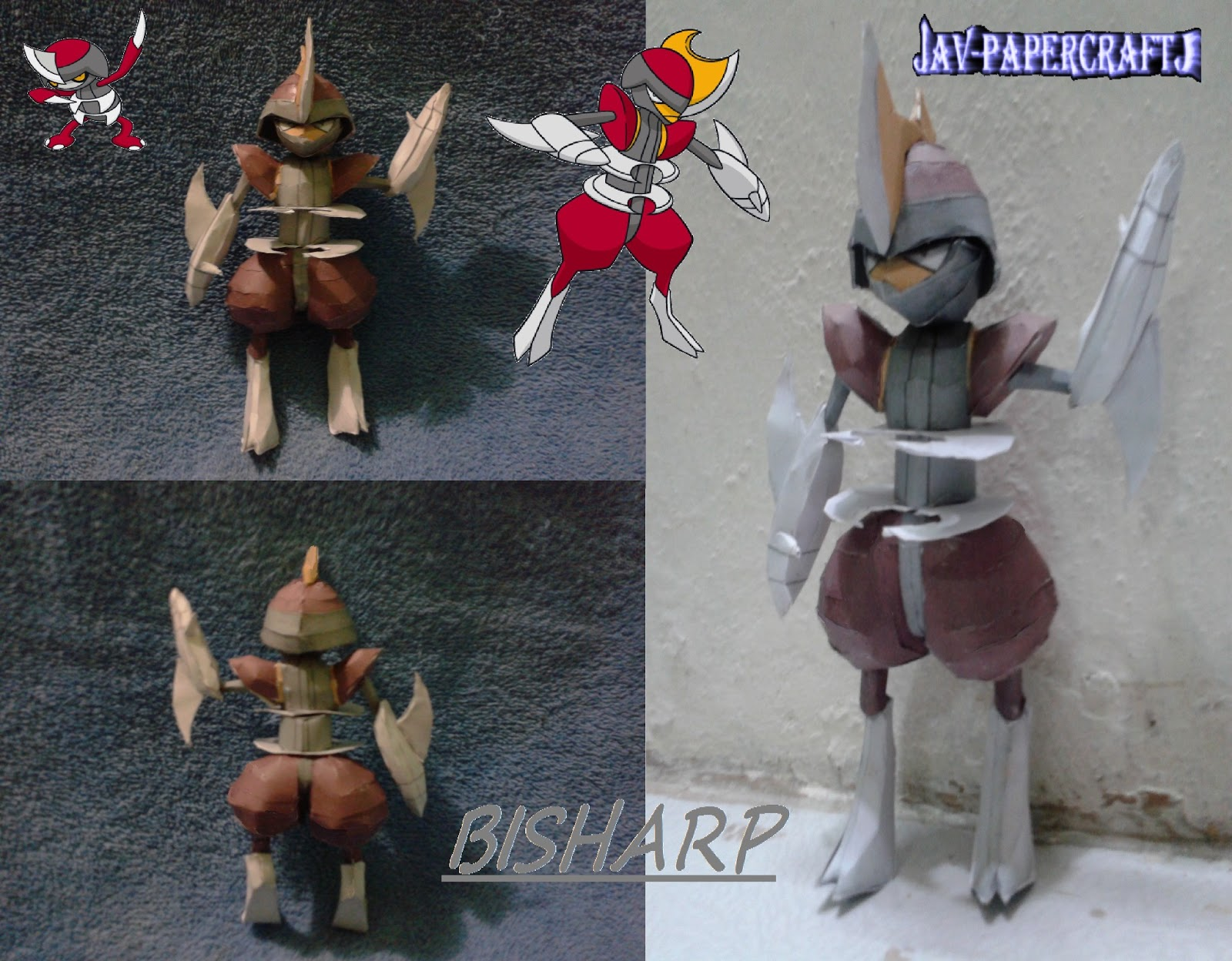 Pokemon Bisharp Papercraft