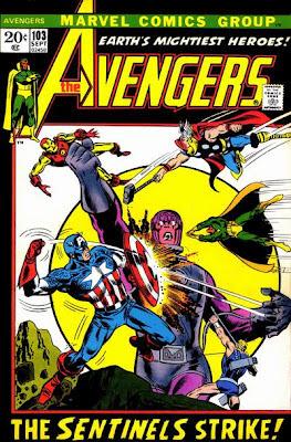 Avengers #103, sentinels