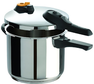 T-fal P25107 Stainless Steel Dishwasher Safe PFOA Free Pressure Cooker Cookware, 6.3-Quart, Silver