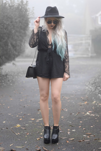 Sammi Jackson - Inner Witch Cookbook Halloween Contest Entry ft. Yoins Lace Playsuit