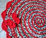 Tapete em Espiral Vermelha e Borboleta