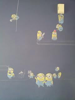 Chalkboard Art Minions
