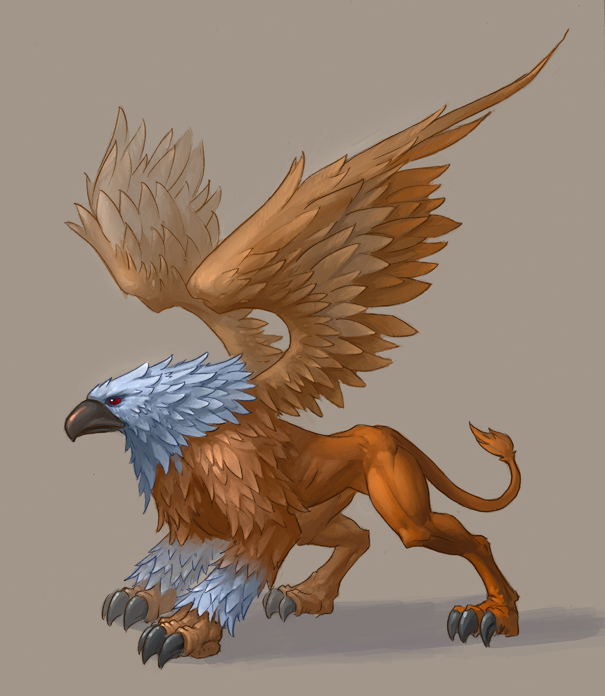 Lion Head Griffin http://nicolezoltack.blogspot.com/2011/12/creature-of-week-griffin.html