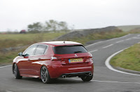 Compare Among  Peugeot 308 GTi  back view