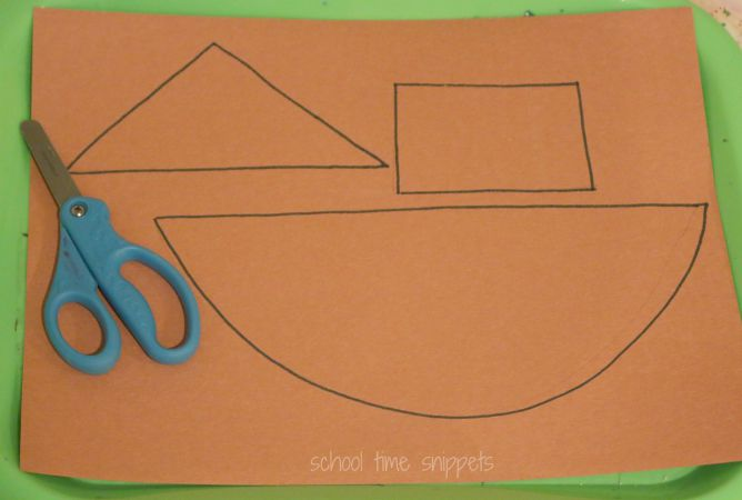 Noah 39 s ark craft for preschoolers school time snippets for The ark of craft