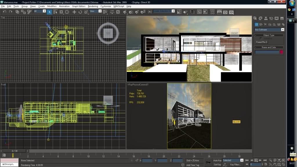 3d max v ray cursos renders y mas la importancia for Programas de arquitectura 3d