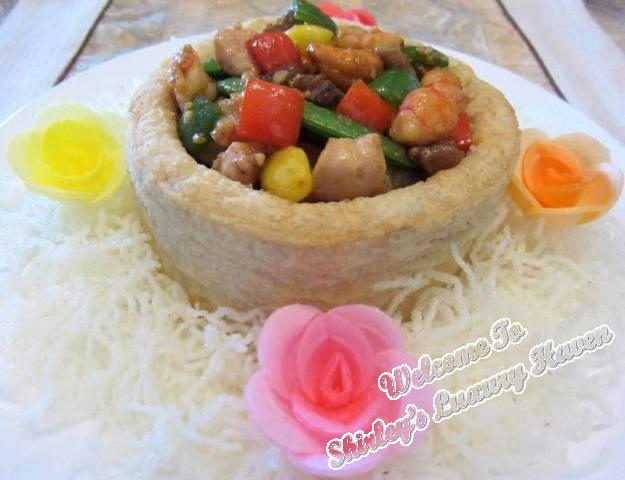 delicious chinese new year yam ring seafood recipe