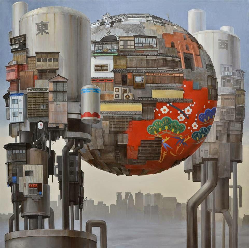 Masakatsu Sashie Orb paintings
