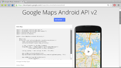 Google Maps Android API v2 documentation page