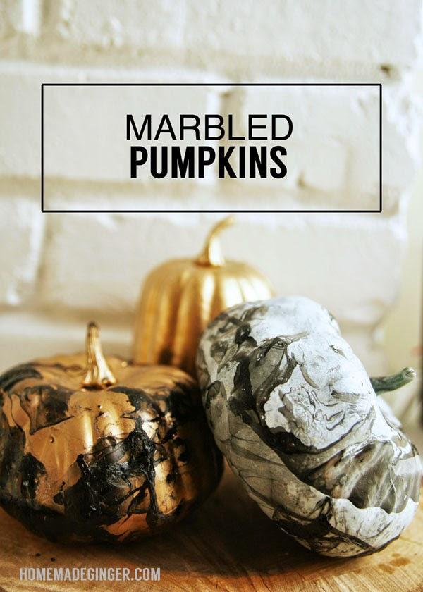 marbled pumpkin diy tutorial