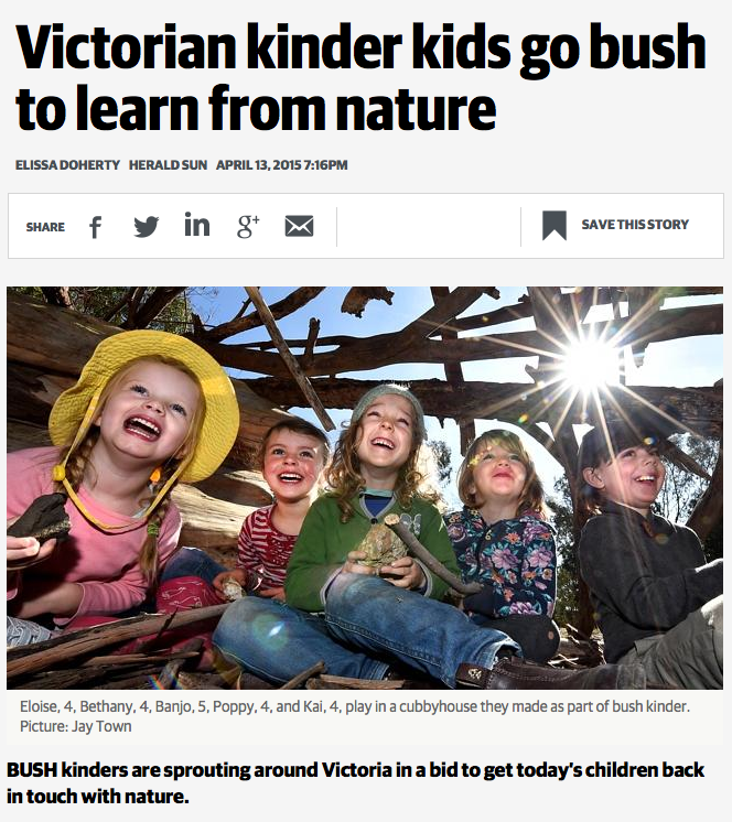 Victorian kinder kids go bush to learn from nature