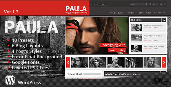 Paula-Blog-and Magazine-Wordpress-Template
