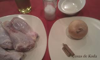 Pollo a la canela