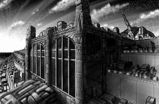 Ziggurat Five by Chris Sumption - Digital (Using Painter) - Copyright Dragondyne Productions
