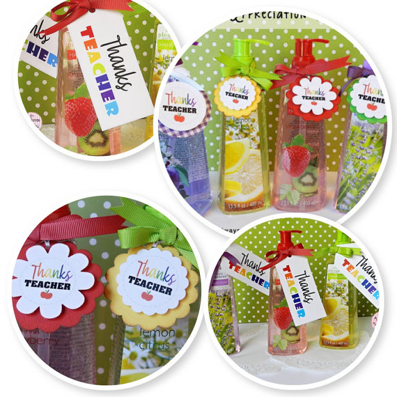 Hand Soap for Teacher-Cute Tags Dress It Up