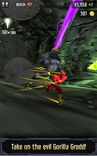 Screenshots of the Batman & the Flash Hero run for Android tablet, phone.