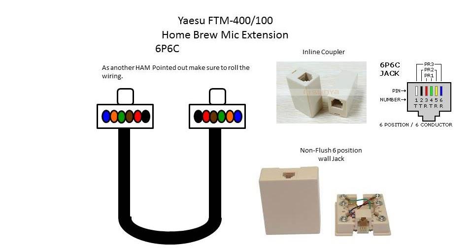 yaesu 400dr 400 mic wiring