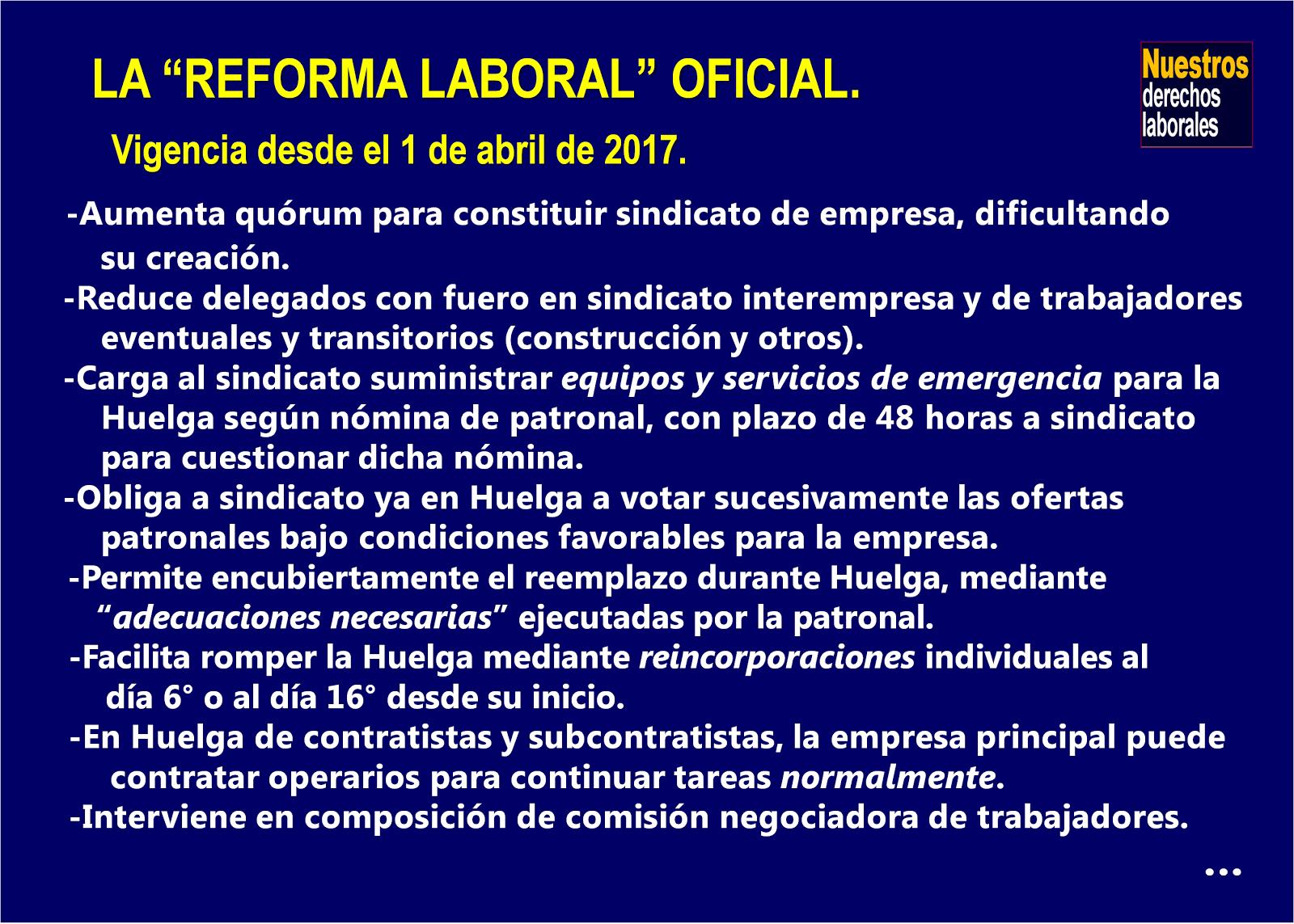 """La """"reforma"""" laboral Gobierno-CUT-patrones."""