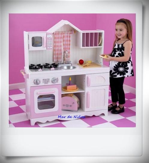 Mar de ni os cocinas de madera entregas garantizadas - Cocinas de madera ninos ...