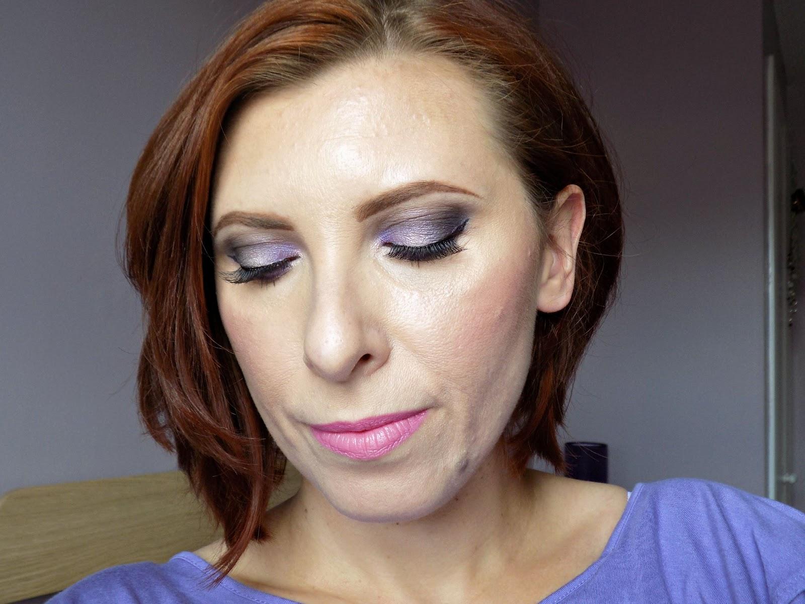 Purple eye makeup look