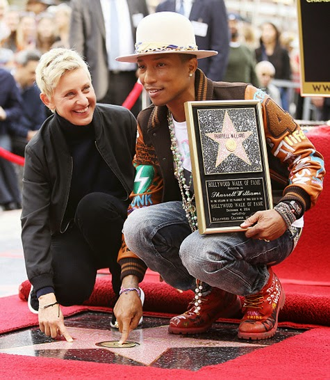 Ellen DeGeneres and Pharrell