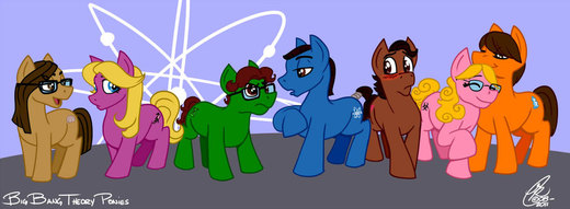 Big Bang Theory Ponies por Kanthara