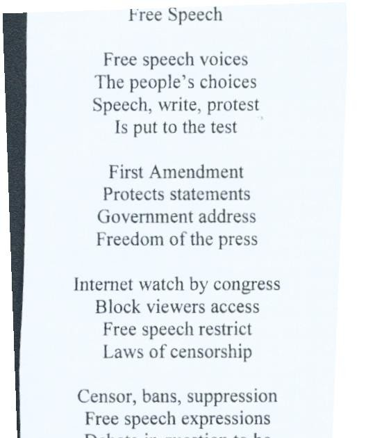 censorship and the first amendment the american citizens right to free speech Start studying the bill of rights and amendments learn vocabulary, terms, and more with flashcards, games, and other study tools.