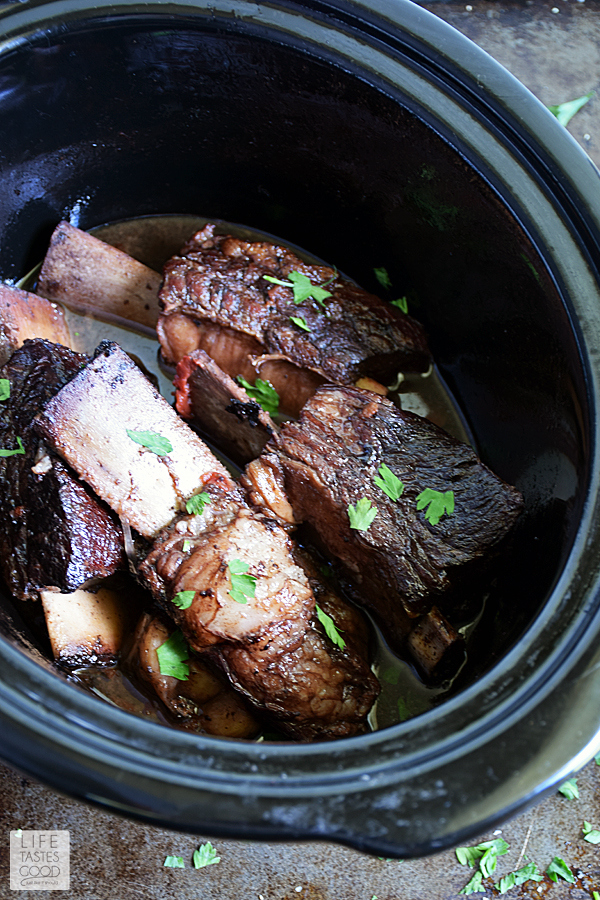 Slow Cooker Red Wine Short Ribs   by Life Tastes Good #LTGrecipes
