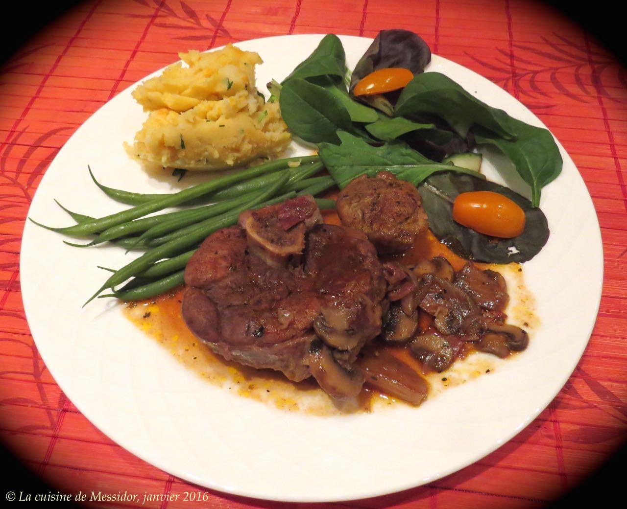 La cuisine de messidor osso buco de porc sauce - Cuisine bourguignonne ...