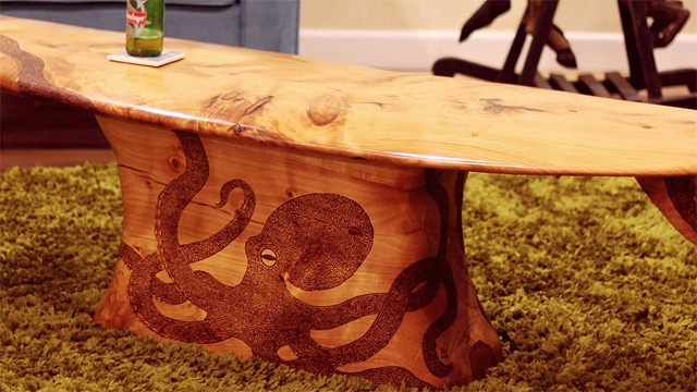 Made In New Zealand The Octopus Surfboard Coffee Table