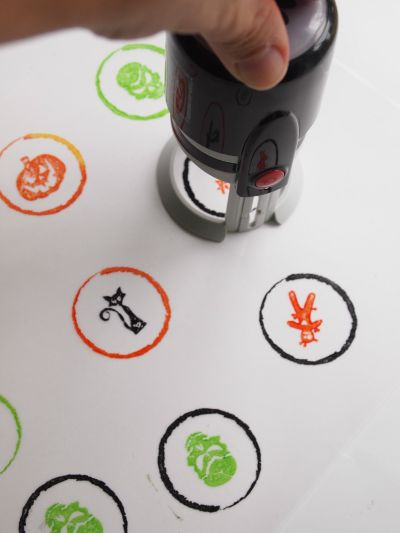Stamping vellum to make Halloween Treat Bag Tags with @PSAEssentials stamps