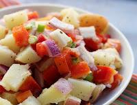 Salada de Batata Colorida (vegana)