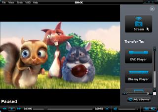 DivX Plus Player film playing screen shot