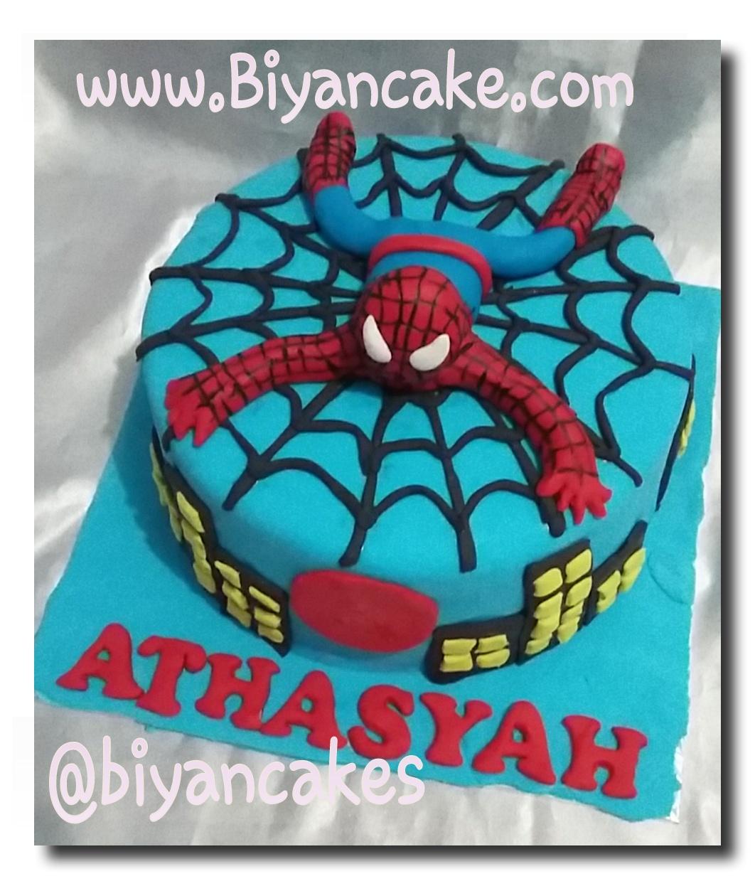 Kue tart Spiderman