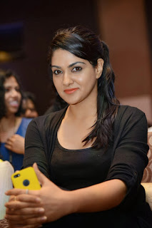 Actress Sakshi Chowdary Pictures in Black Tights at Doosukeltha Telugu Movie Music Launch  0020