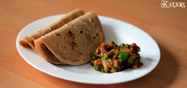 Green Peas Masala With Chapathi