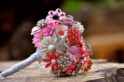 Wedding Wednesday Brooch Bouquets