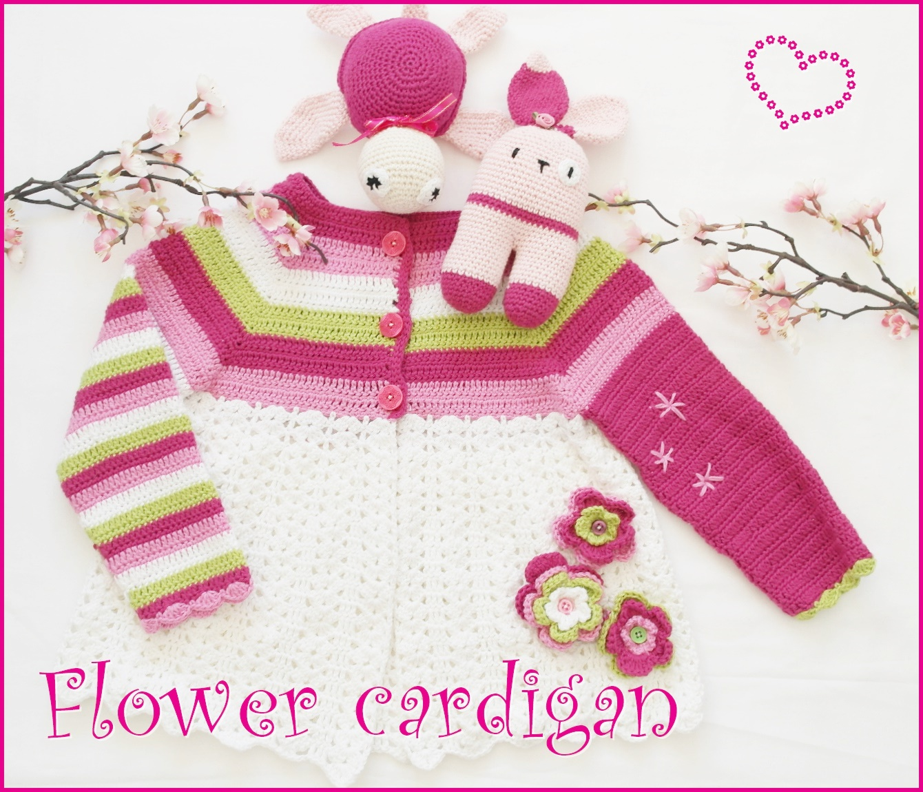 Flower cardigan