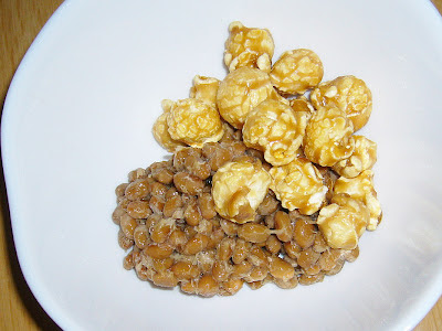 納豆にG.H.CRETORS Caramel Corn